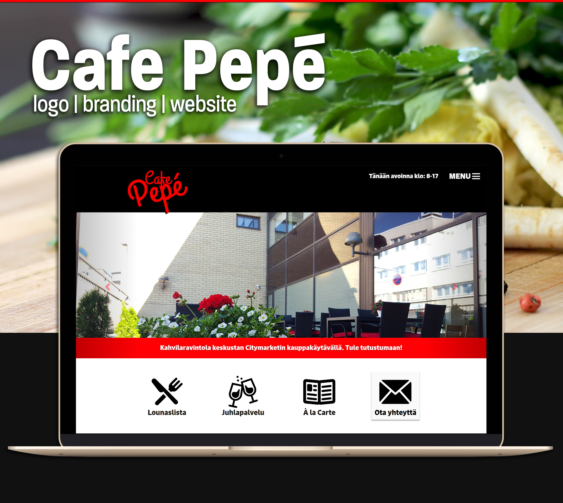 Cafe Pepé Behance brand design
